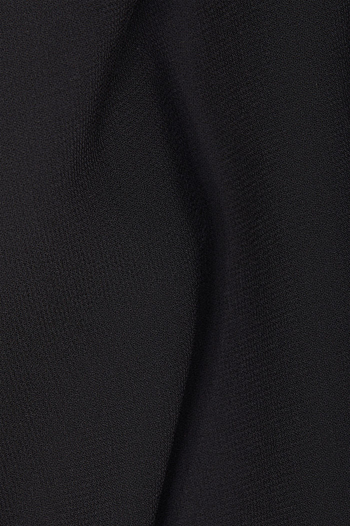 Chiffon-Bluse mit Layer-Effekt, BLACK, detail image number 4