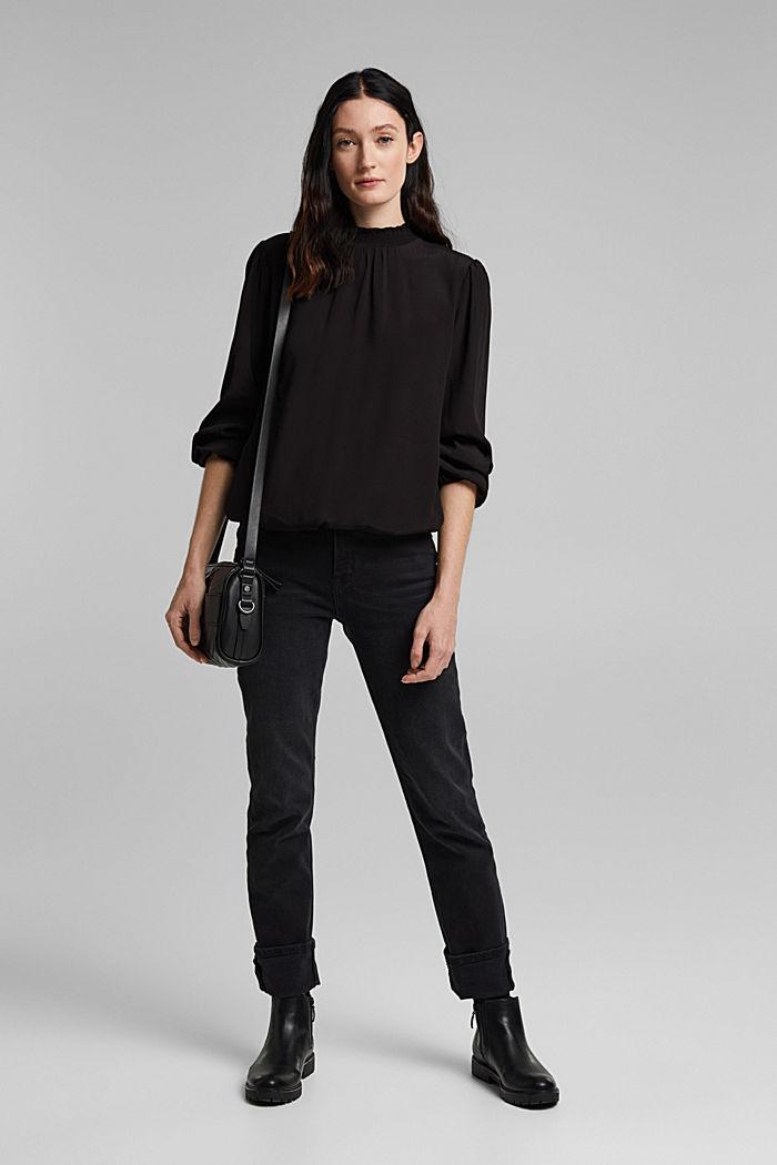 Bluse aus LENZING™ ECOVERO™, BLACK, detail image number 1