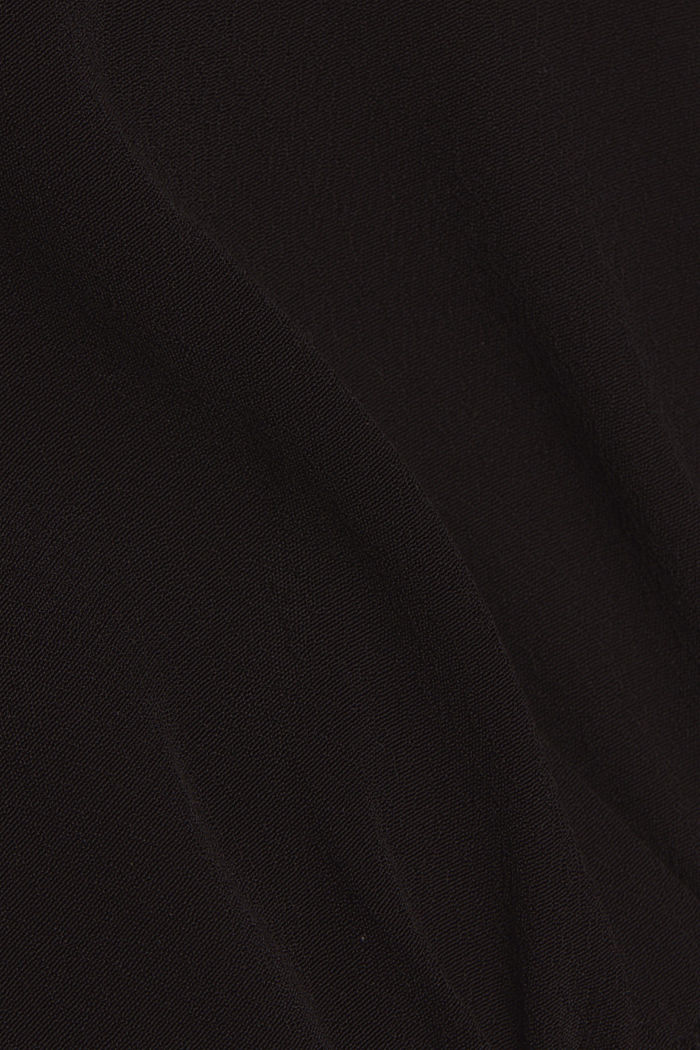 Bluse aus LENZING™ ECOVERO™, BLACK, detail image number 4