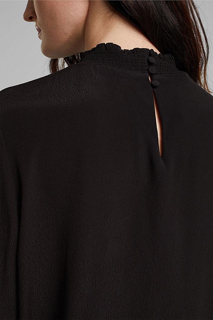 Bluse aus LENZING™ ECOVERO™, BLACK, detail image number 5