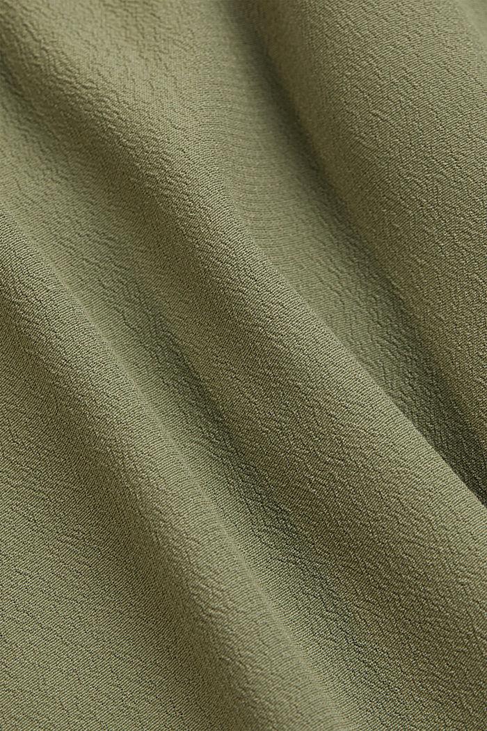Blouse van LENZING™ ECOVERO™, LIGHT KHAKI, detail image number 4
