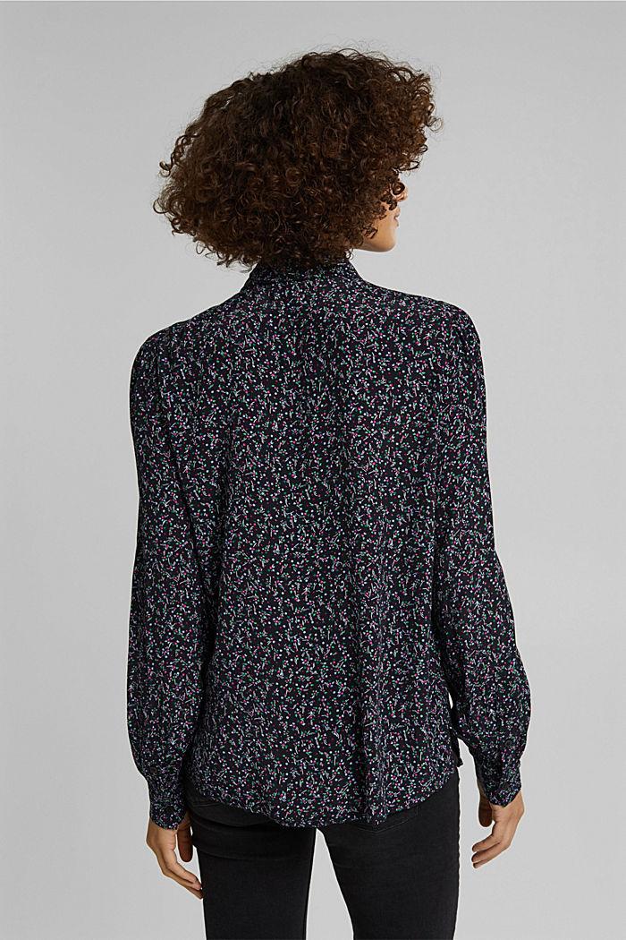 Print-Bluse mit LENZING™ ECOVERO™, BLACK, detail image number 3