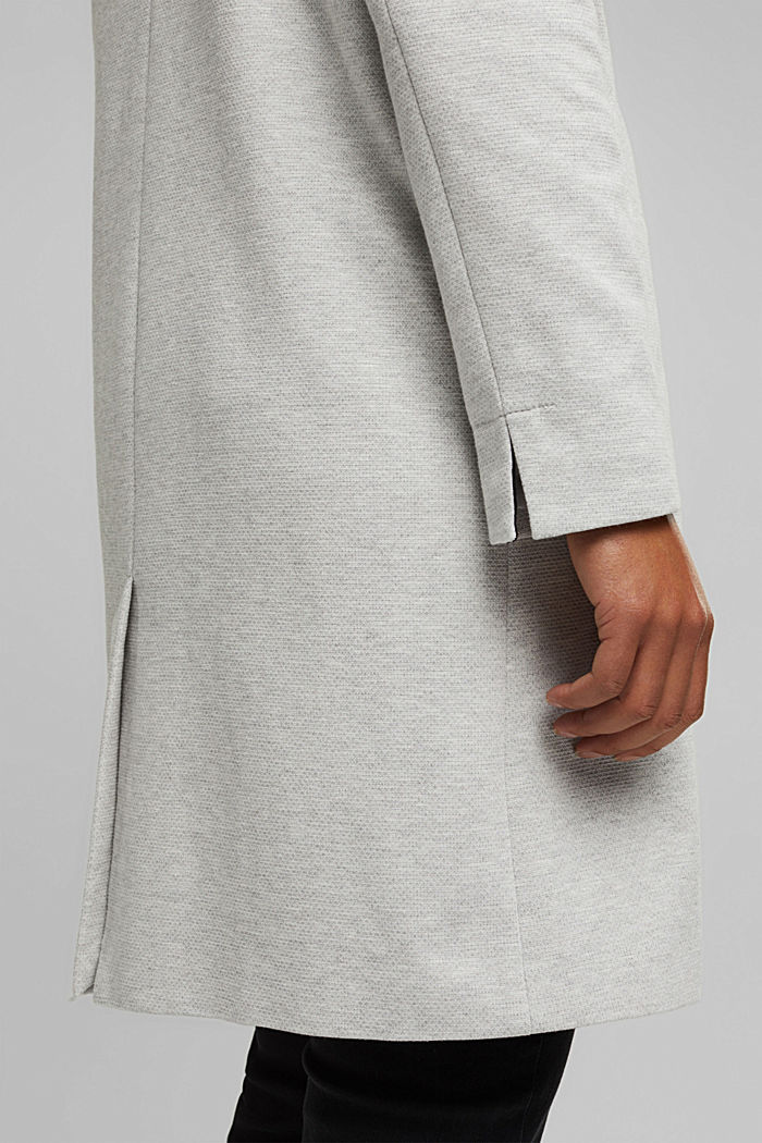 Blazer coat in a cotton blend, LIGHT GREY, detail image number 2