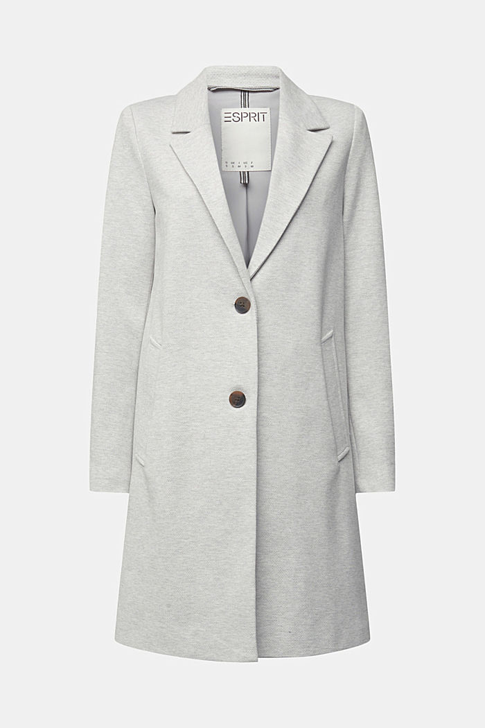 Blazer coat in a cotton blend, LIGHT GREY, detail image number 6
