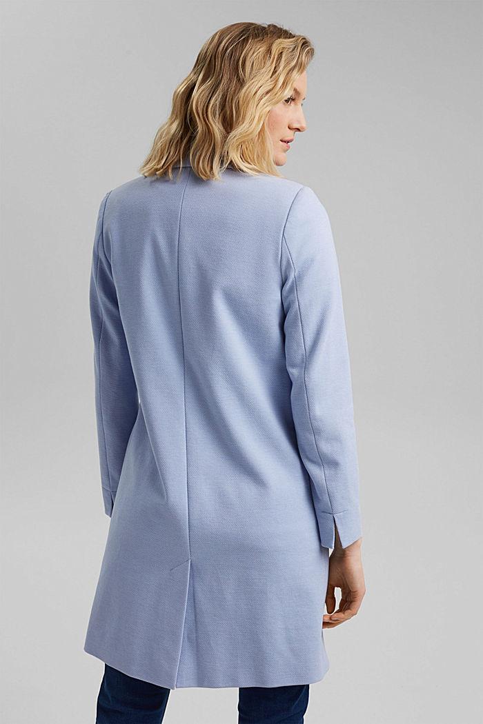 Blazer coat in a cotton blend, PASTEL BLUE, detail image number 3