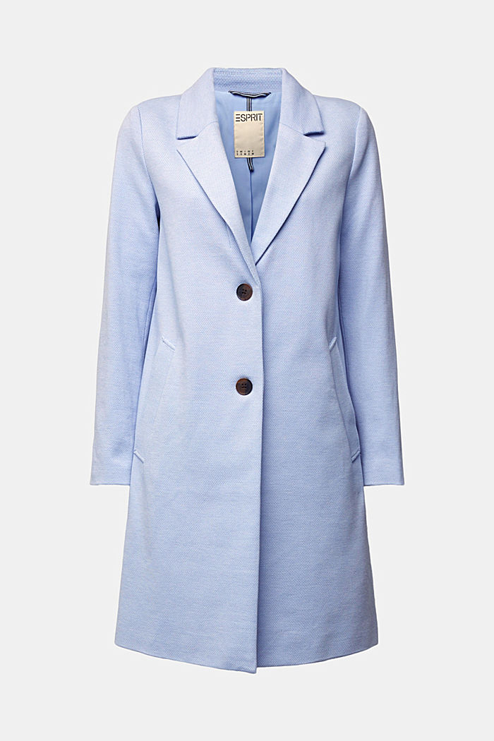 Blazer coat in a cotton blend