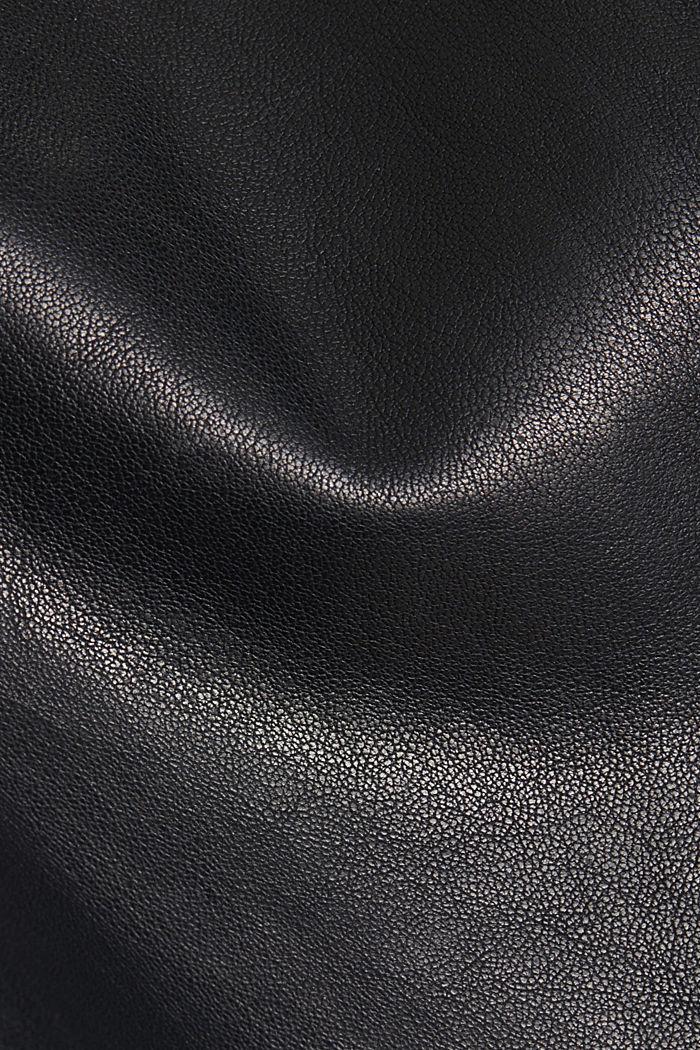 100% leather biker jacket, BLACK, detail image number 4