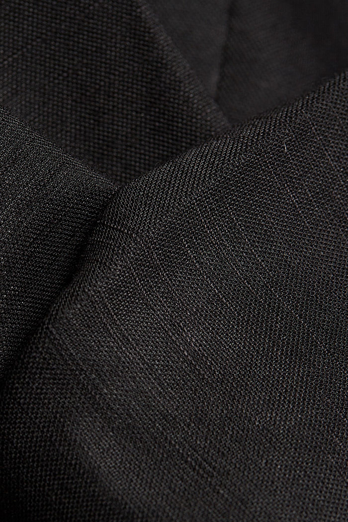 Blazer with a fine texture, BLACK, detail image number 4