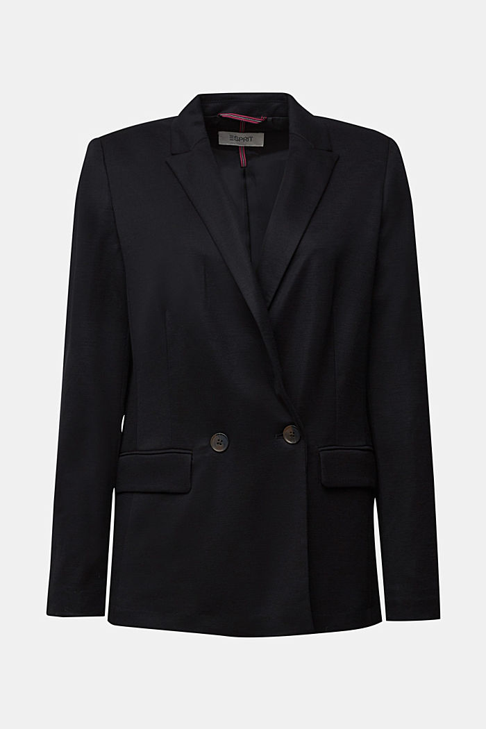 Blazer with a fine texture, BLACK, detail image number 5