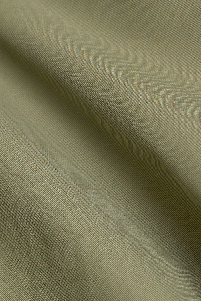 Maxi trench coat with organic cotton, LIGHT KHAKI, detail image number 4