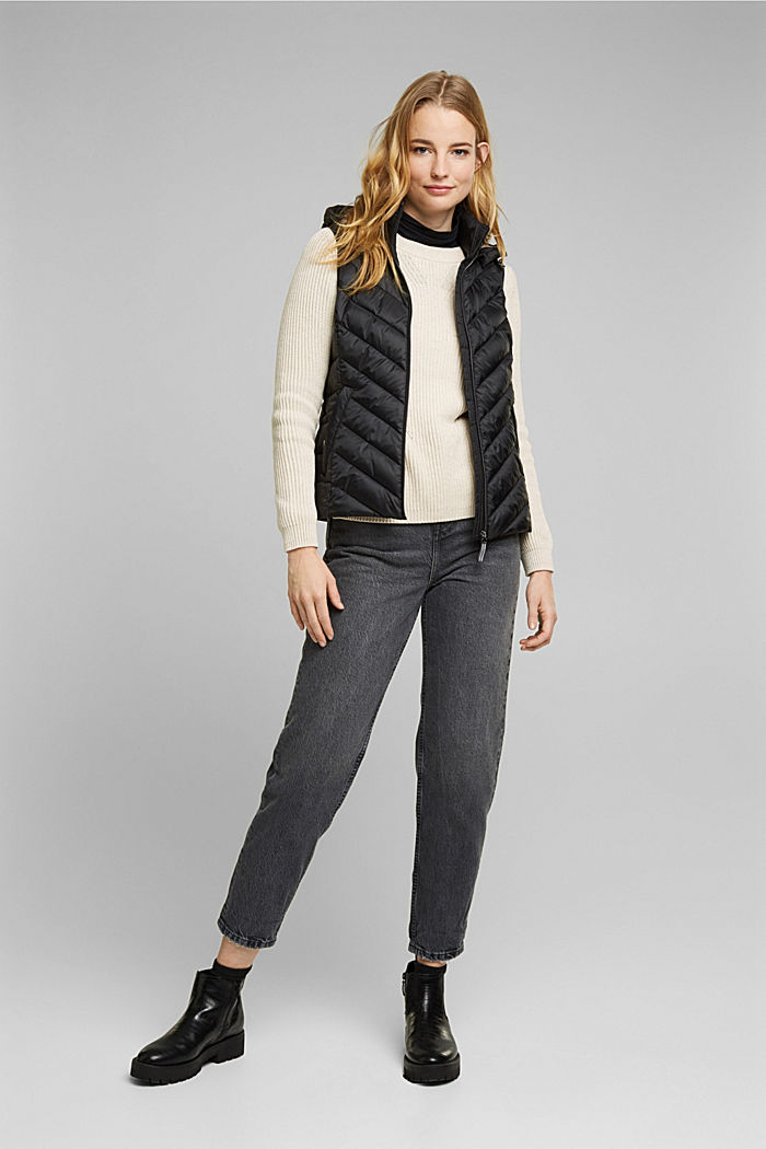 Quilted body warmer with 3M™ Thinsulate™, BLACK, detail image number 1