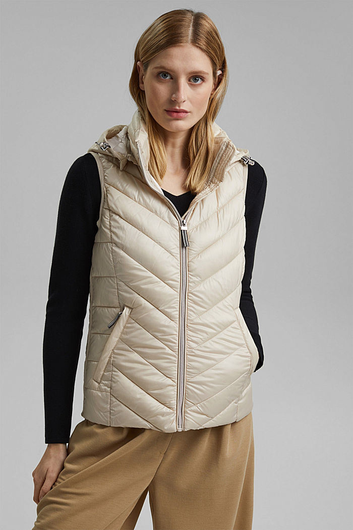 Quilted body warmer with 3M™ Thinsulate™, CREAM BEIGE, detail image number 0
