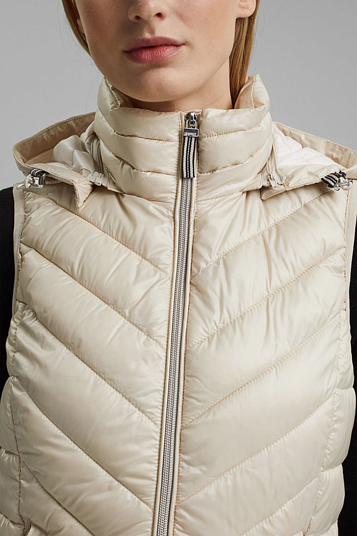 Quilted body warmer with 3M™ Thinsulate™, CREAM BEIGE, detail image number 2