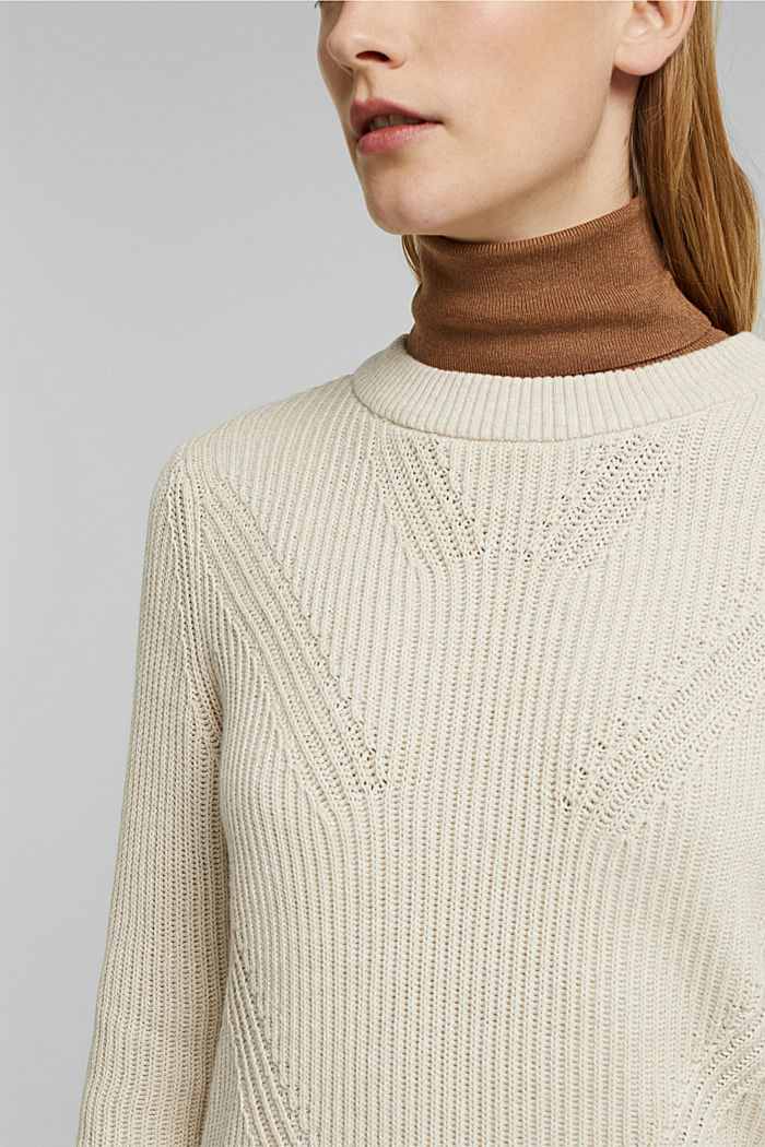 Pullover aus 100% Organic Cotton, SAND, detail image number 2