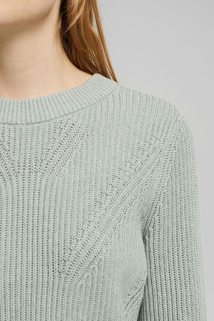 Jumper made of 100% organic cotton, DUSTY GREEN, detail image number 2