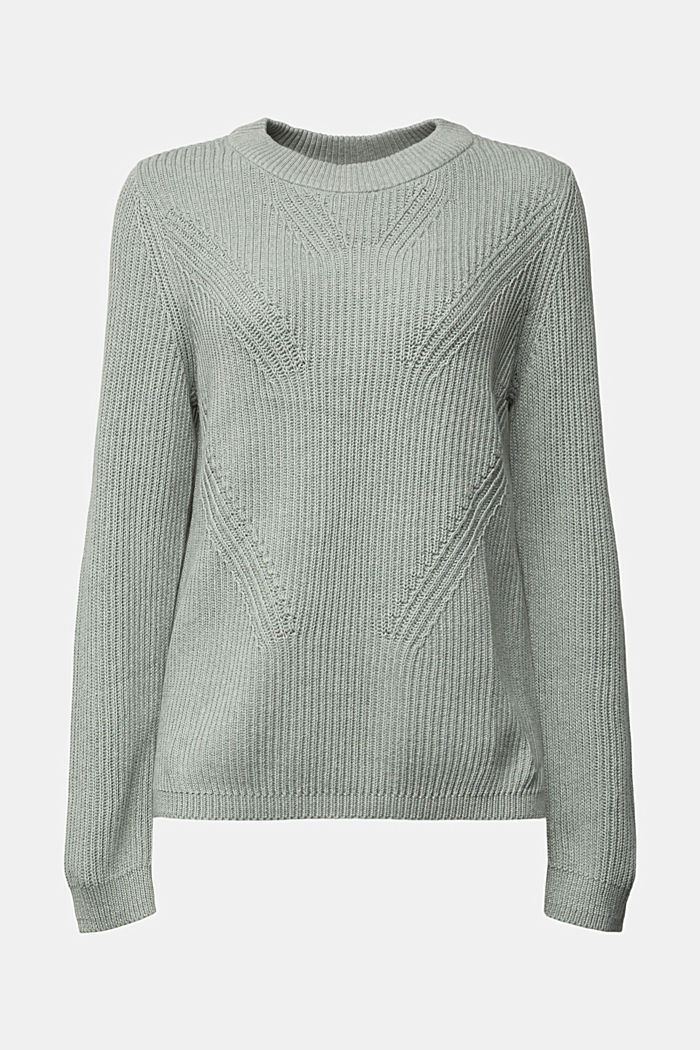 Jumper made of 100% organic cotton, DUSTY GREEN, detail image number 8