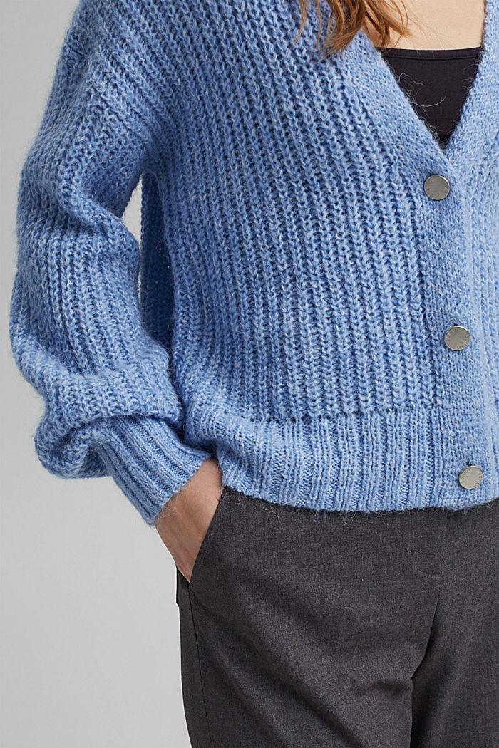 Recycled: cardigan with alpaca wool, LIGHT BLUE, detail image number 2