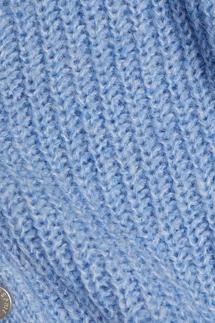 Recycled: cardigan with alpaca wool, LIGHT BLUE, detail image number 4