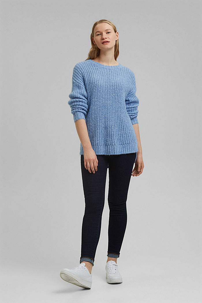Recycled: jumper with alpaca, LIGHT BLUE, detail image number 1