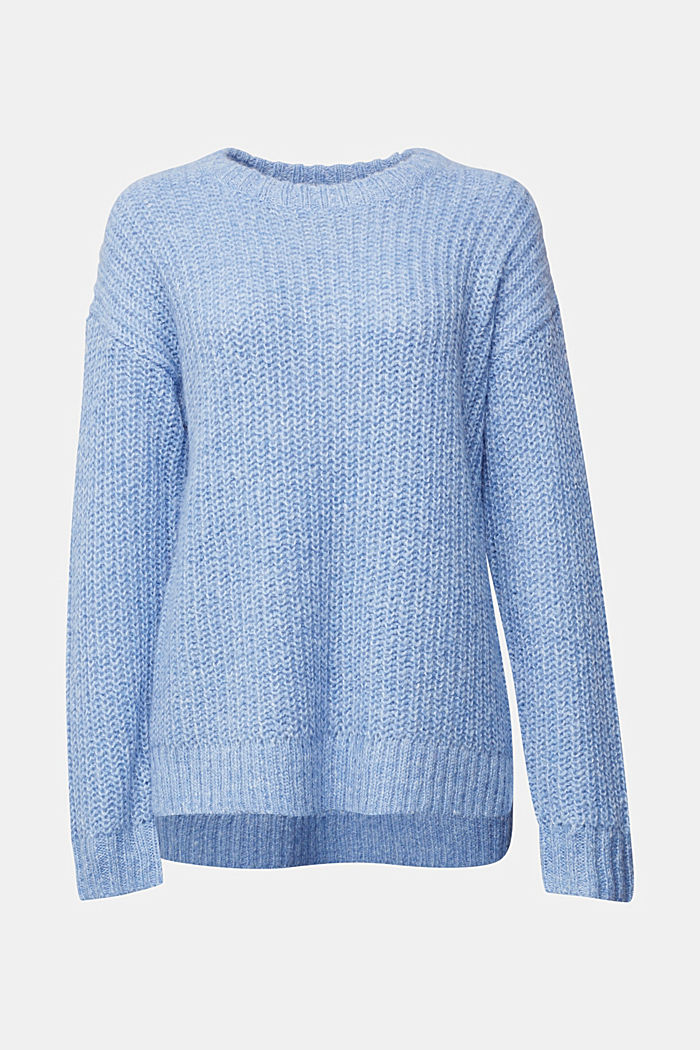 Recycled: jumper with alpaca, LIGHT BLUE, overview