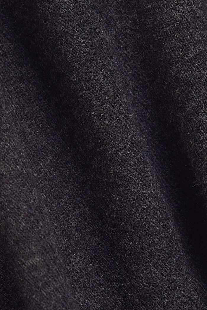Jumper with wool and organic cotton, ANTHRACITE, detail image number 4