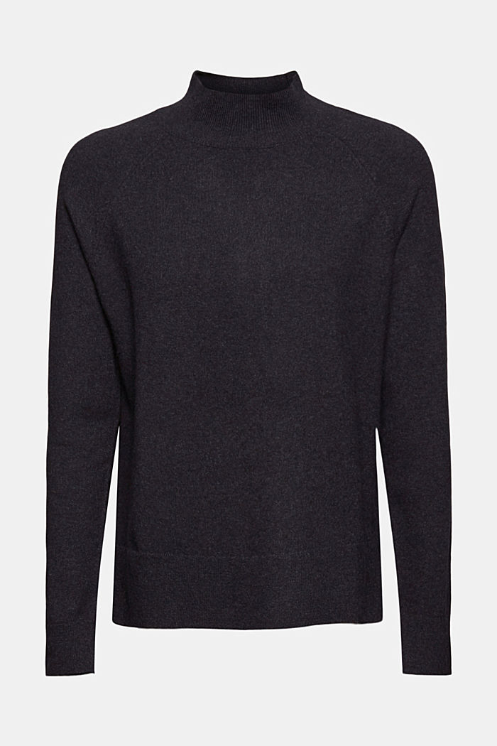 Jumper with wool and organic cotton, ANTHRACITE, detail image number 6