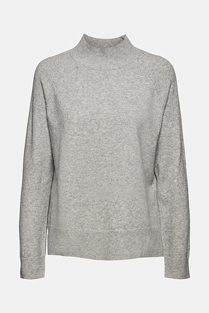 Jumper with wool and organic cotton, MEDIUM GREY, detail image number 6