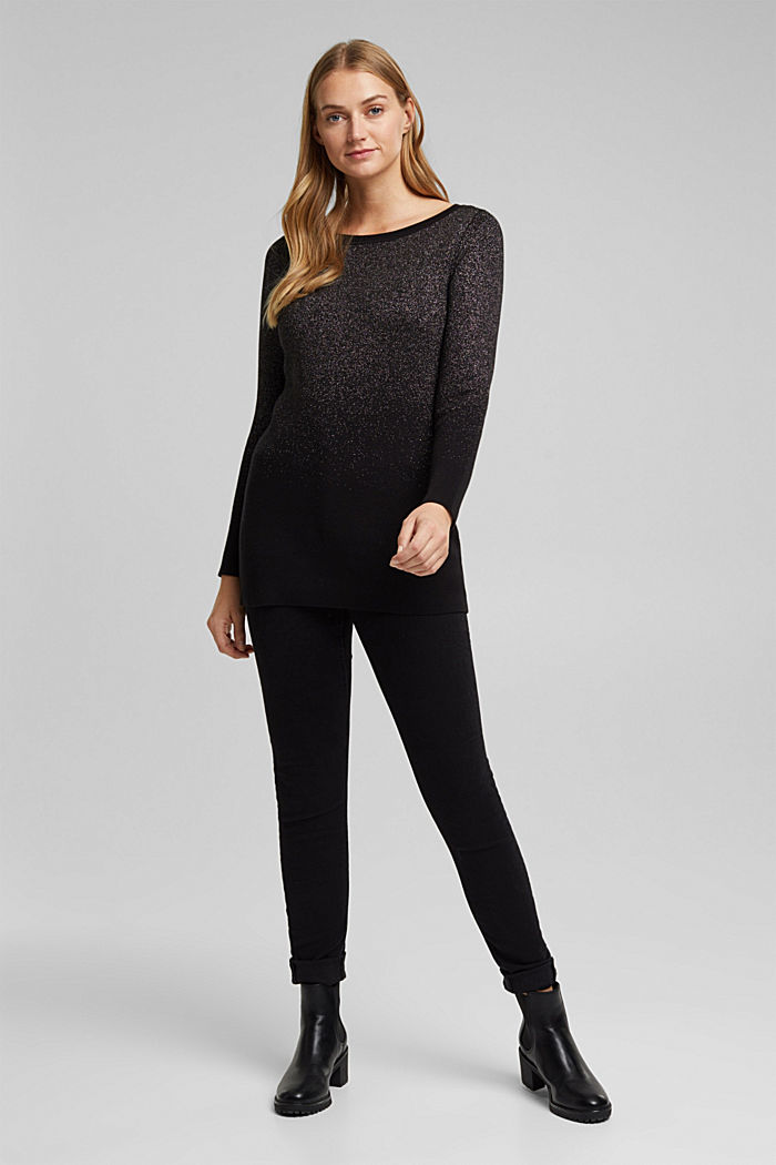 Sparkly jumper with organic cotton, BLACK, detail image number 1