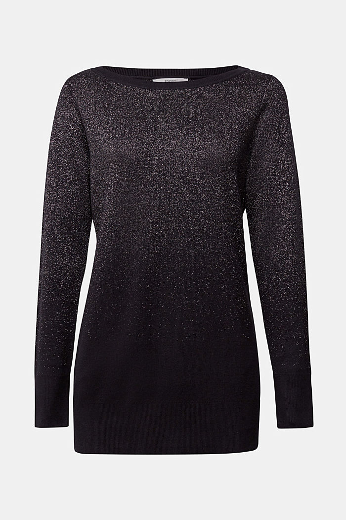 Sparkly jumper with organic cotton, BLACK, detail image number 5