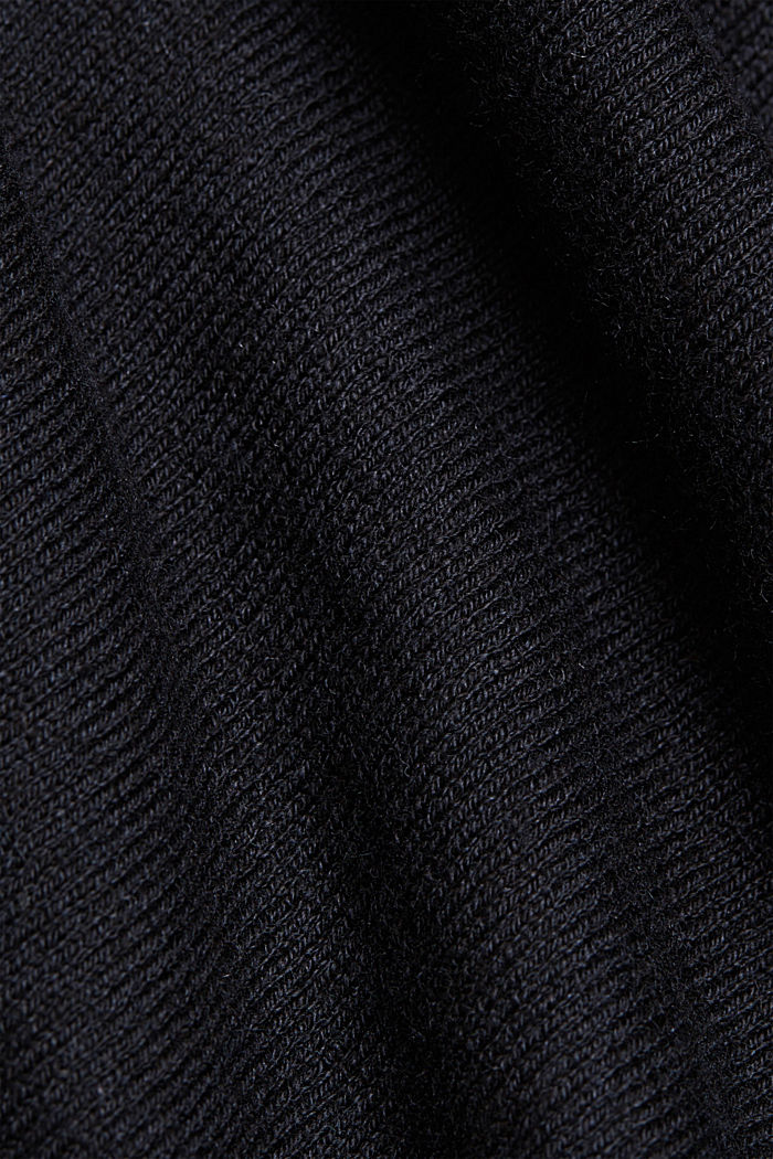 Jumper with organic cotton and linen, BLACK, detail image number 4
