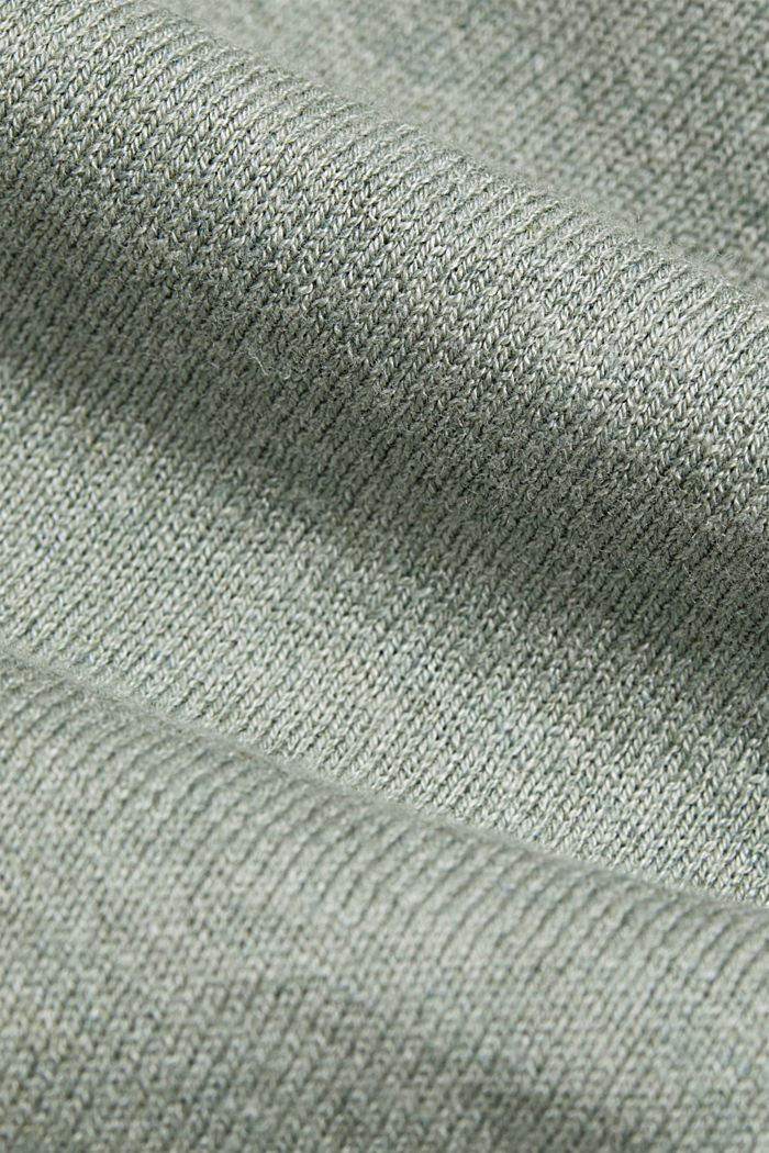 Jumper with organic cotton and linen, DUSTY GREEN, detail image number 4