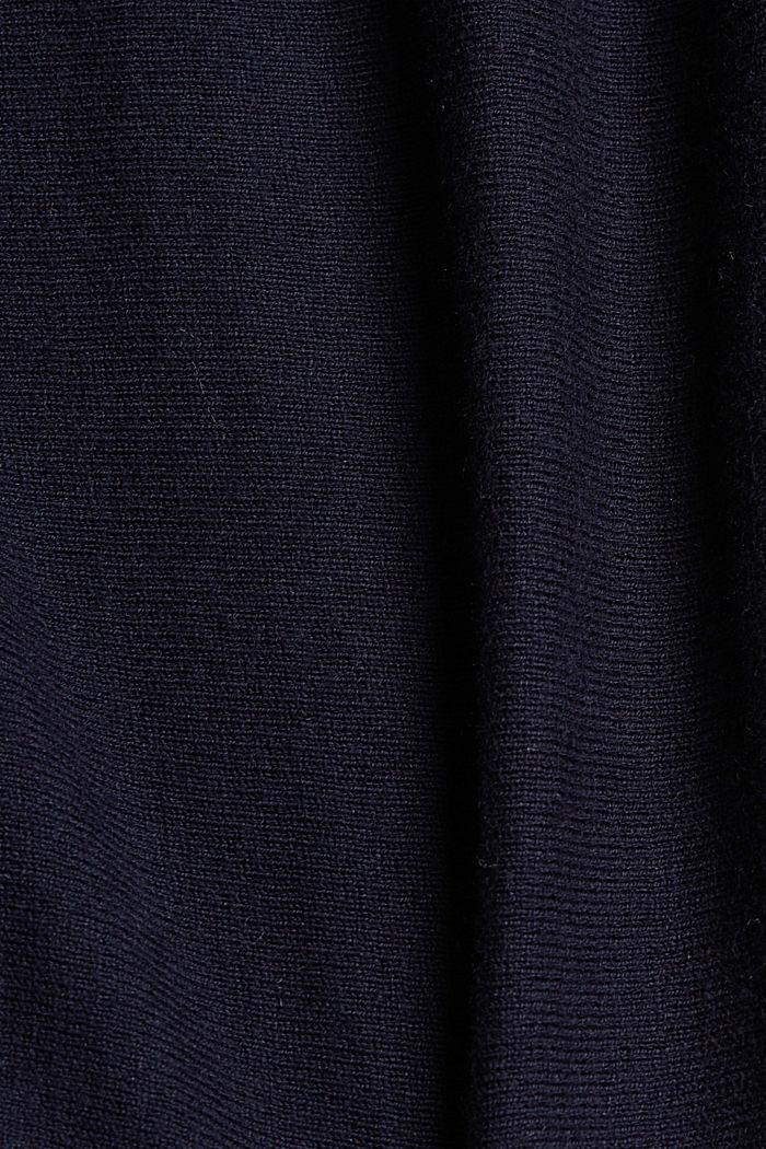 Trui met biologisch katoen en linnen, NAVY, detail image number 4