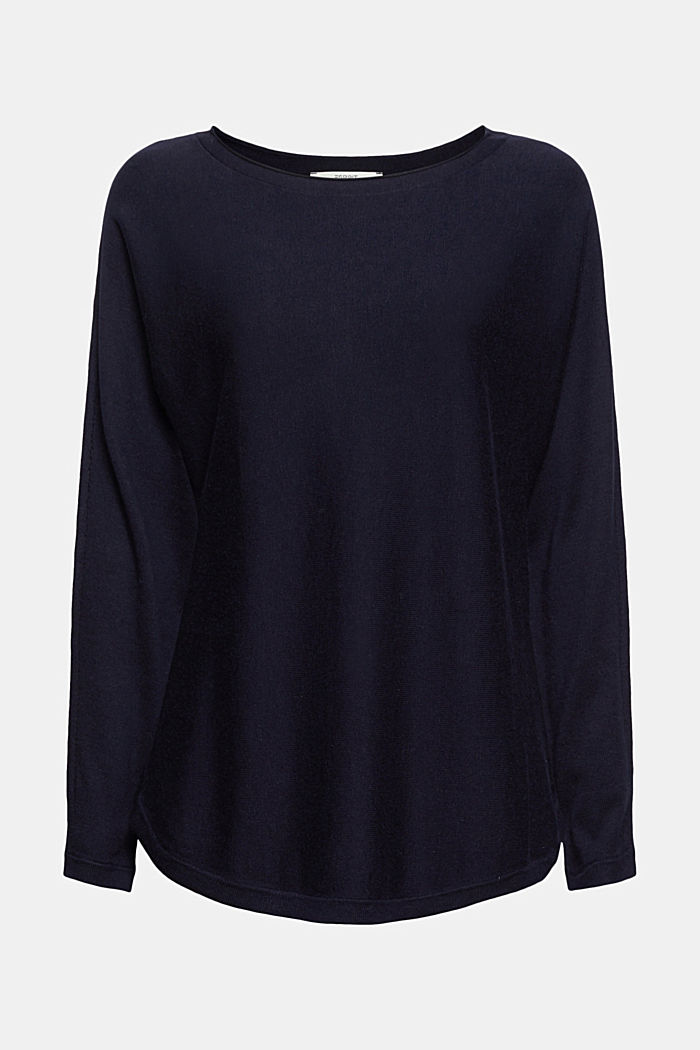Jumper with organic cotton and linen