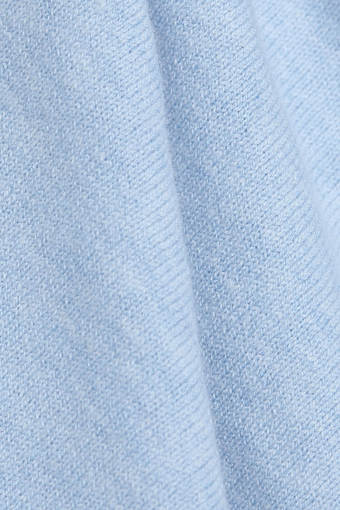 Jumper with organic cotton and linen, PASTEL BLUE, detail image number 4