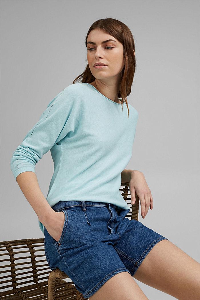 Pullover mit Organic Cotton und Leinen