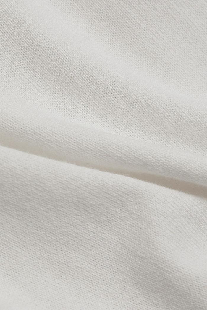 Met linnen: basic trui met biologisch katoen, OFF WHITE, detail image number 4