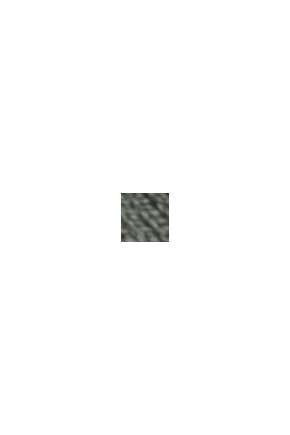 À teneur en lin: le pull-over basique à teneur en coton biologique, DUSTY GREEN, swatch