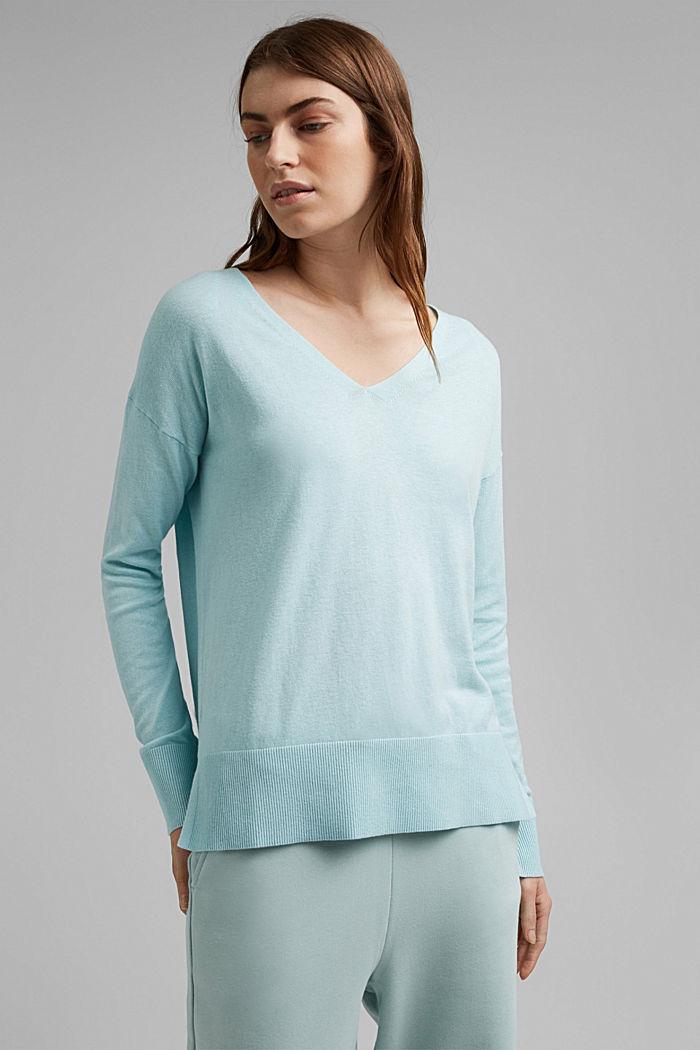 Met linnen: basic trui met biologisch katoen