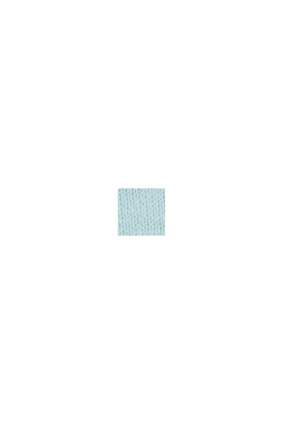Met linnen: basic trui met biologisch katoen, LIGHT TURQUOISE, swatch