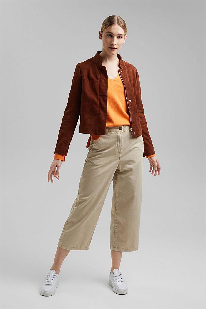 Met linnen: basic trui met biologisch katoen, GOLDEN ORANGE, detail image number 1