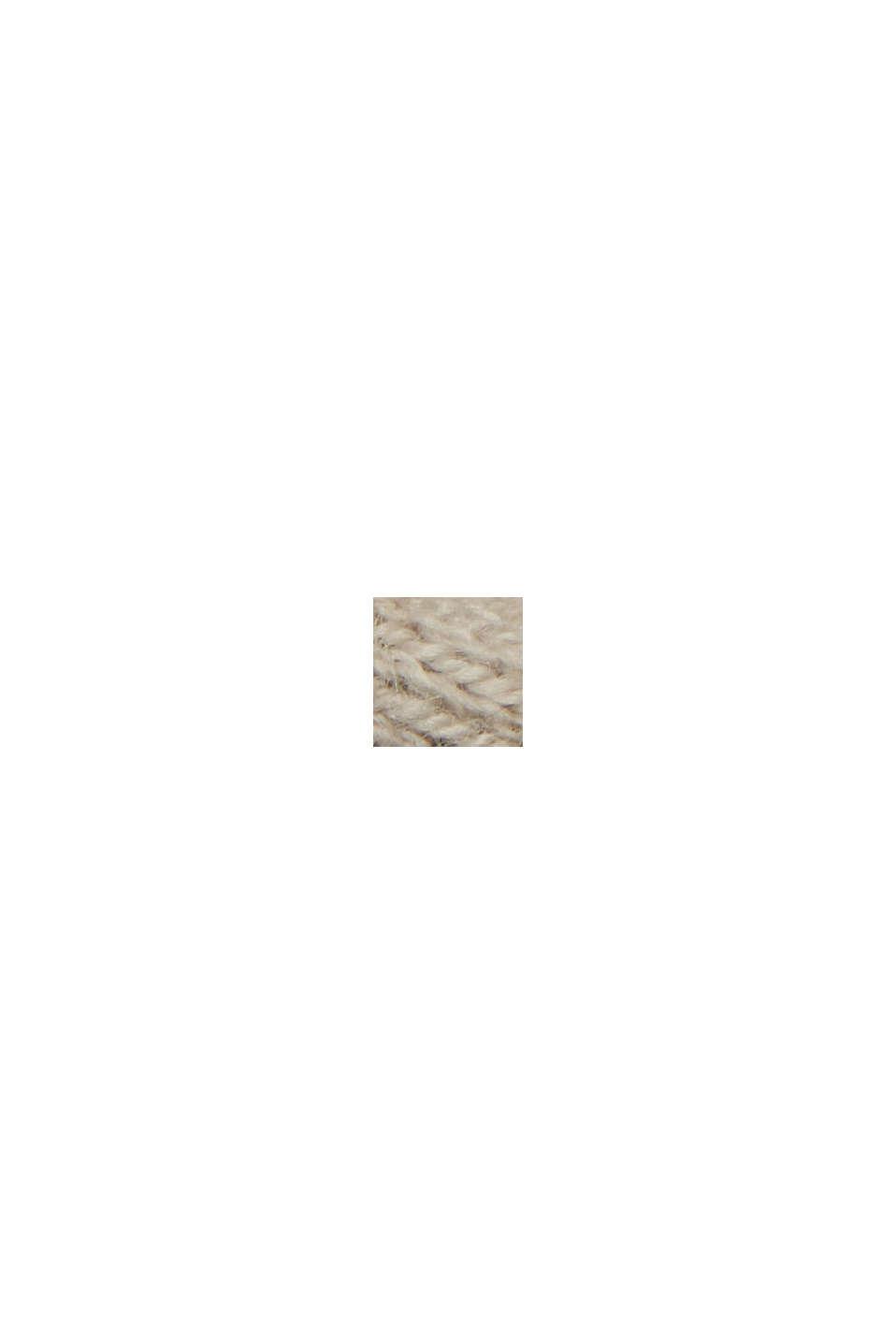 Med linne: Baskofta med ekologisk bomull, SAND, swatch