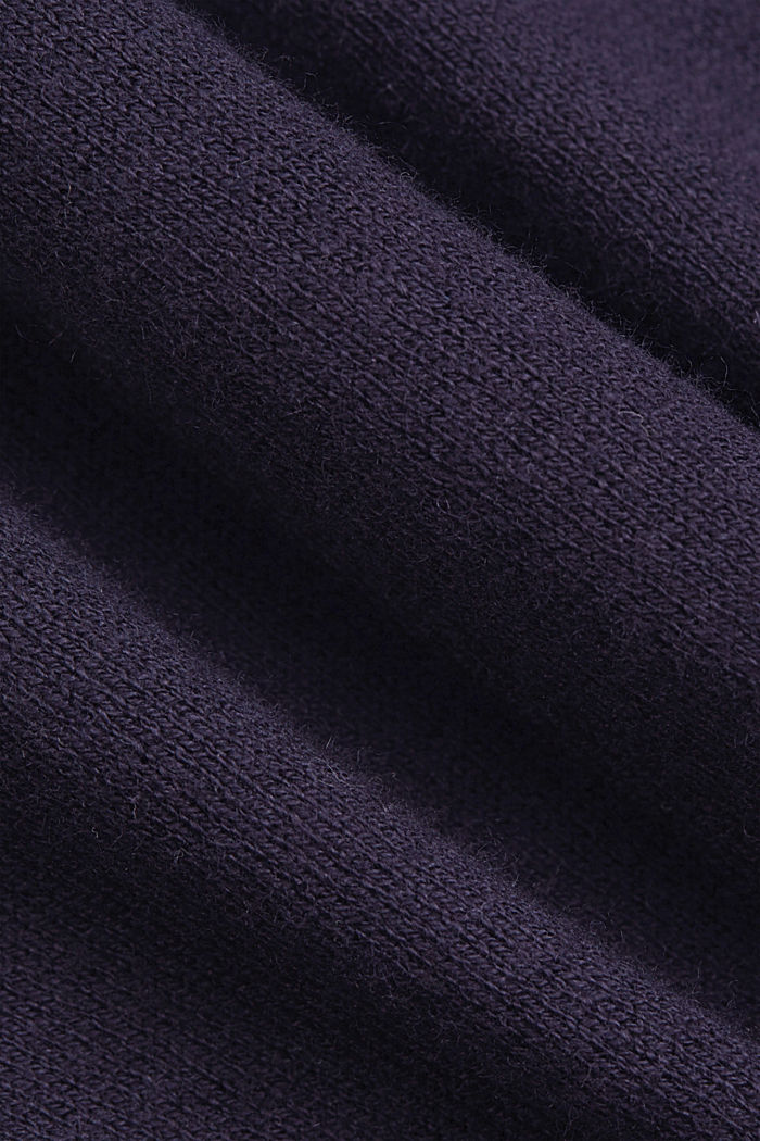 Blended linen basic cardigan with organic cotton, NAVY, detail image number 4
