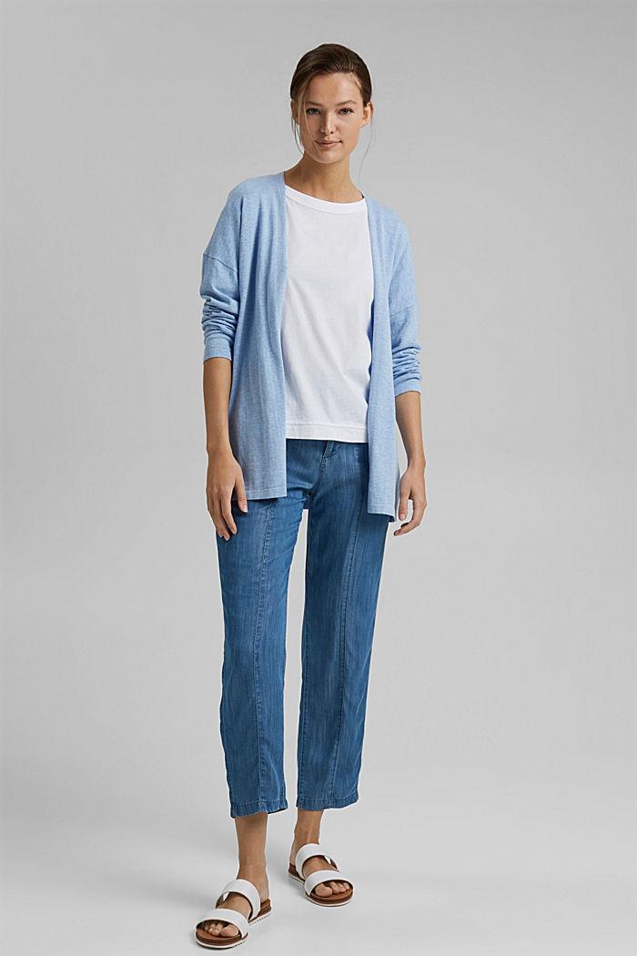 Mit Leinen: Basic Cardigan mit Organic Cotton