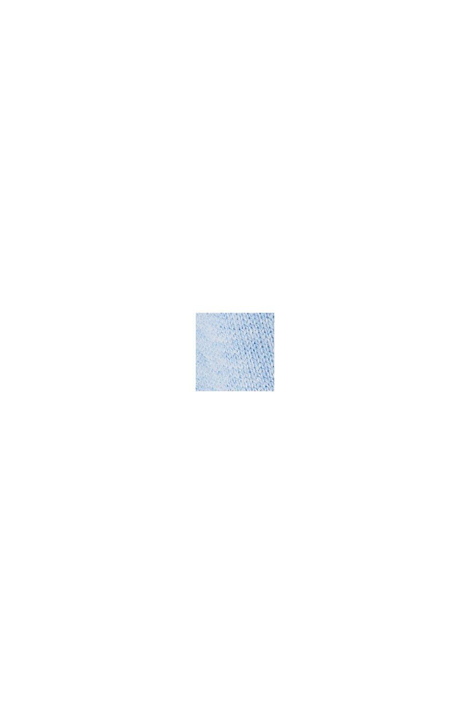 Met linnen: basic vest met biologisch katoen, PASTEL BLUE, swatch