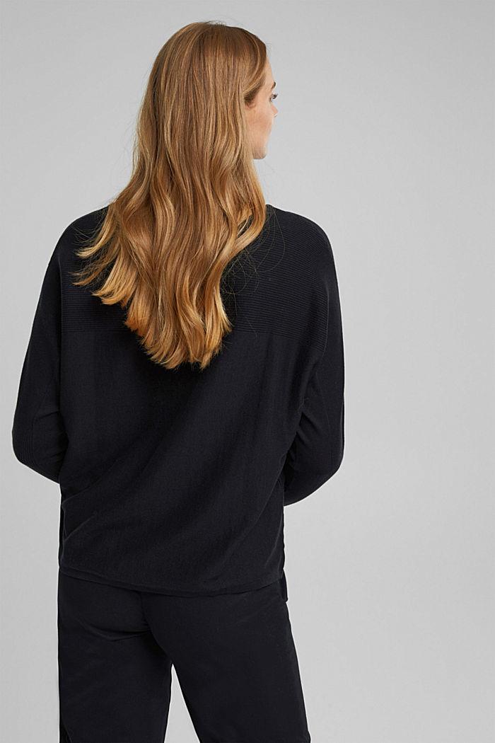 Trui van 100% organic cotton, BLACK, detail image number 3