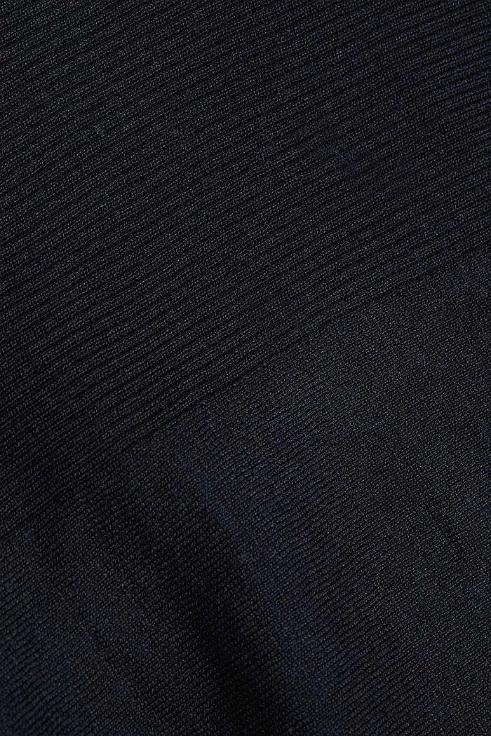 Trui van 100% organic cotton, BLACK, detail image number 4