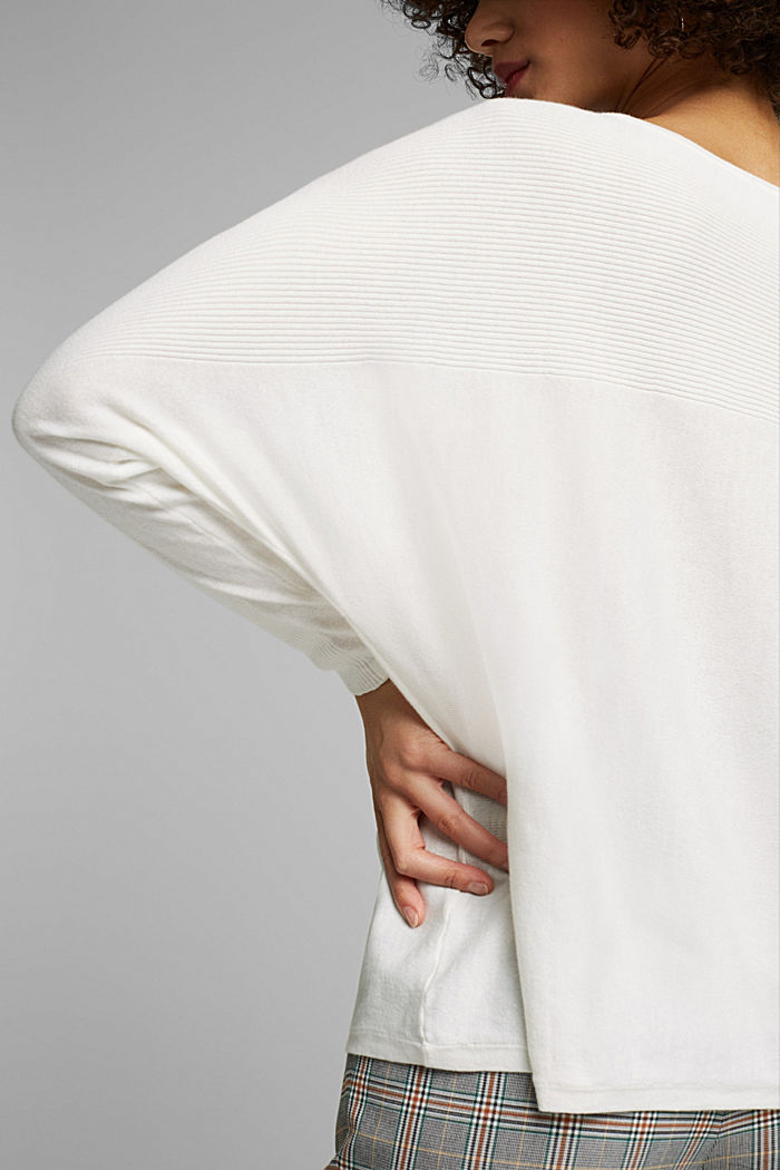 Jumper made of 100% organic cotton, OFF WHITE, detail image number 2