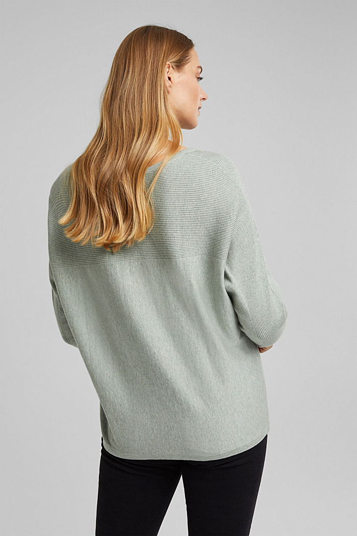 Pull-over 100% coton biologique, DUSTY GREEN, detail image number 3