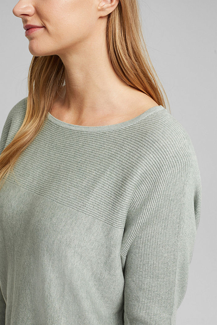 Pull-over 100% coton biologique, DUSTY GREEN, detail image number 2