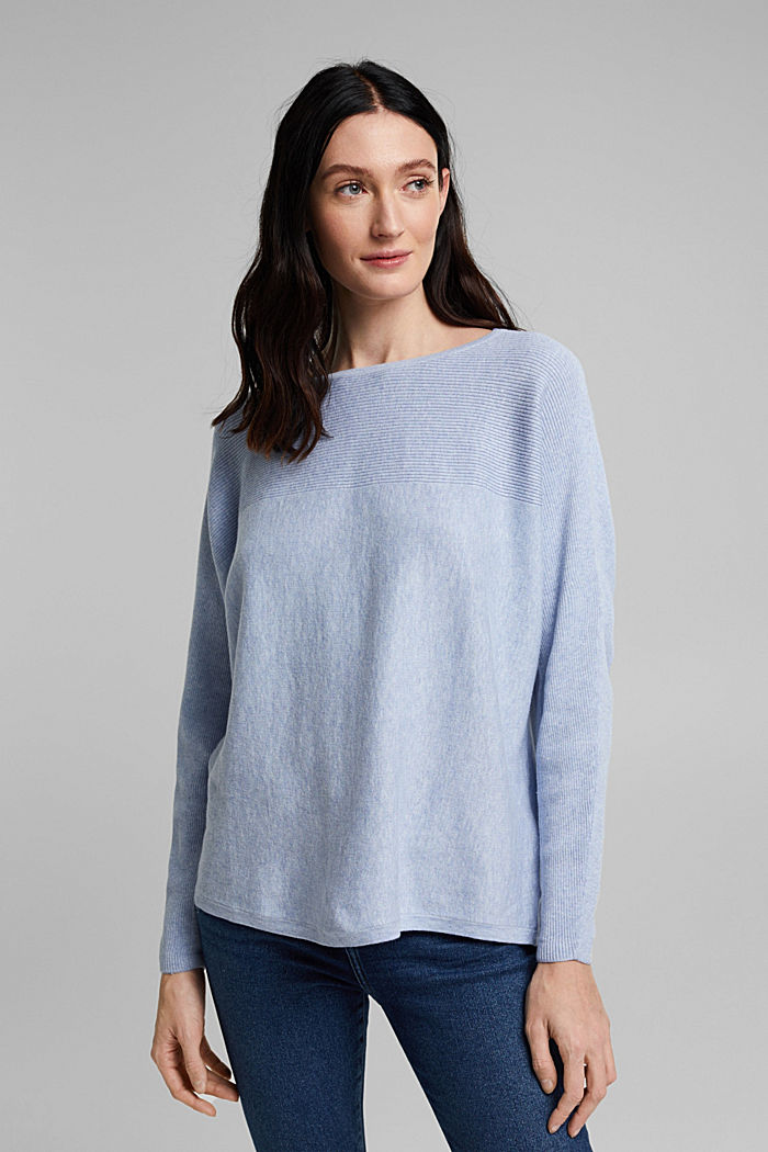 Trui van 100% organic cotton, PASTEL BLUE, detail image number 0